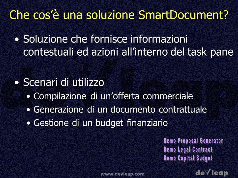 www.devleap.com Che cosè una soluzione SmartDocument.