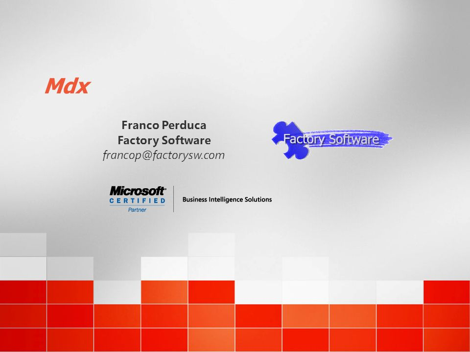 Mdx Franco Perduca Factory Software francop@factorysw.com