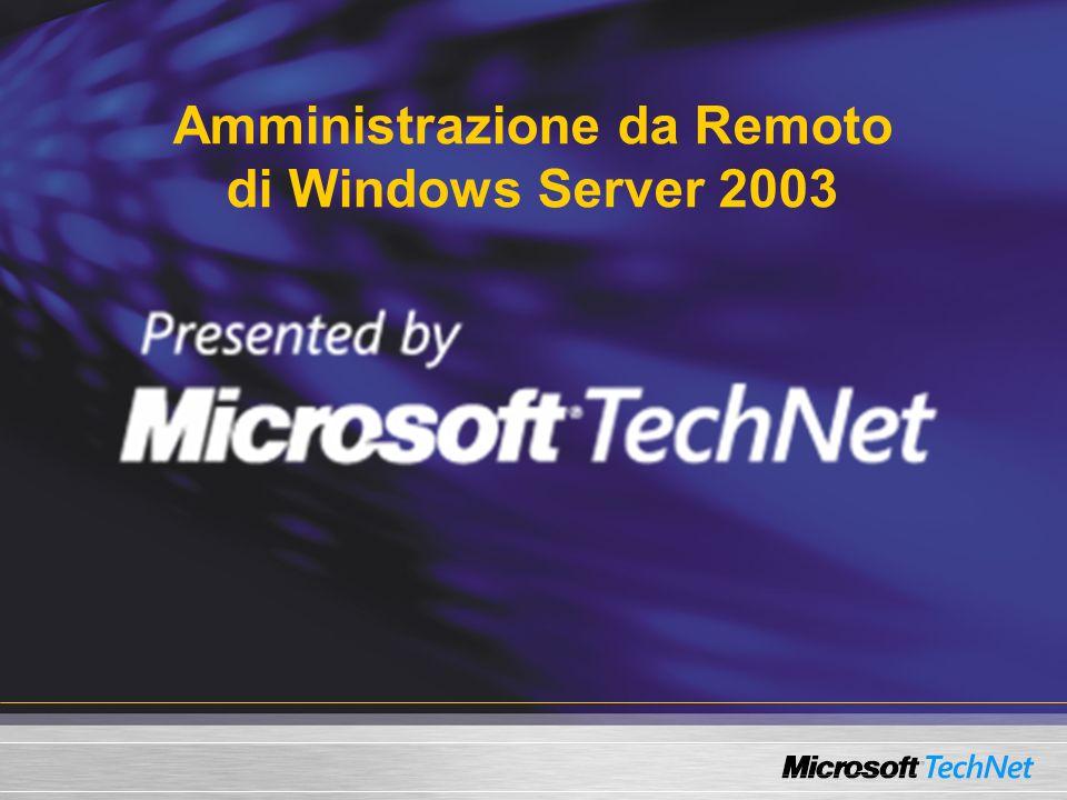 Per maggiori informazioni Online Help: Riferimento dei comandi: ntcmds.chm Help dei support tool: suptools.chm Uso c:\>HH helpfilename.chm per lavvio da cmd WSH, VBScript e JScript - http://msdn.microsoft.com/scripting Windows Resource Kit http://www.reskit.com Command Line Newsgroup microsoft.public.Win2000.cmdprompt.admin Infrastruttura di gestione http://www.microsoft.com/management httpmanagement
