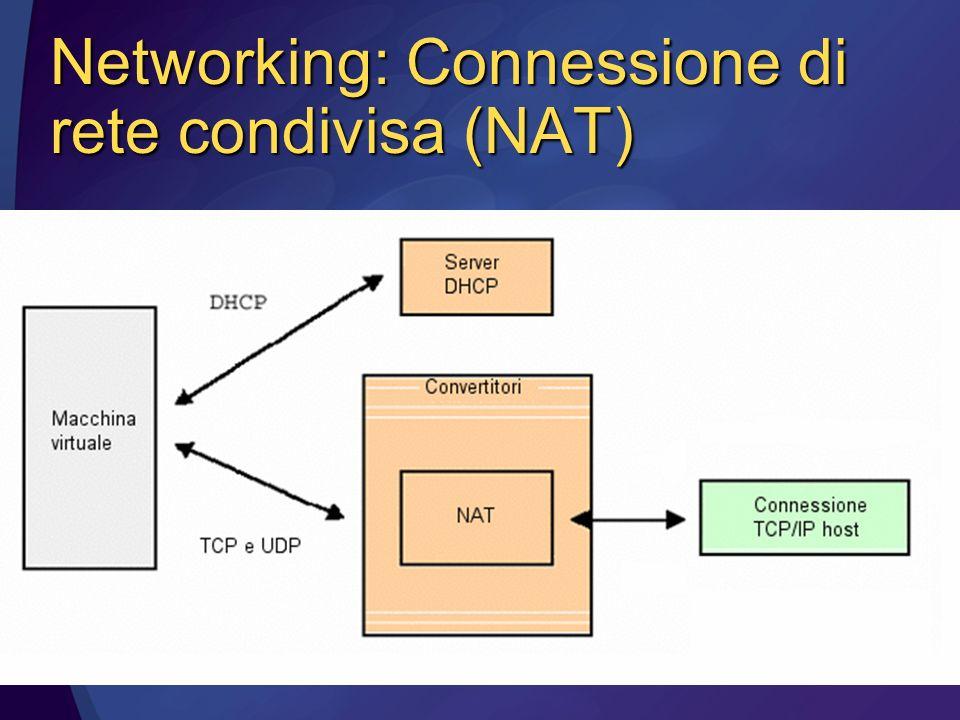Networking: Connessione di rete condivisa (NAT)