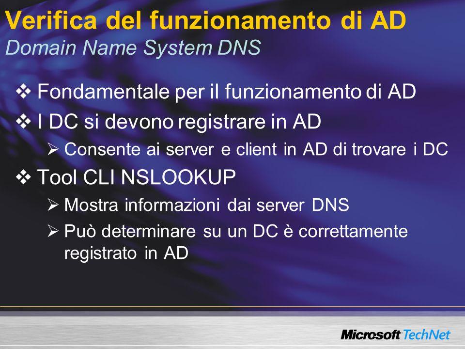 Manutenzione del database di AD NTDSUTIL è un tool interattivo