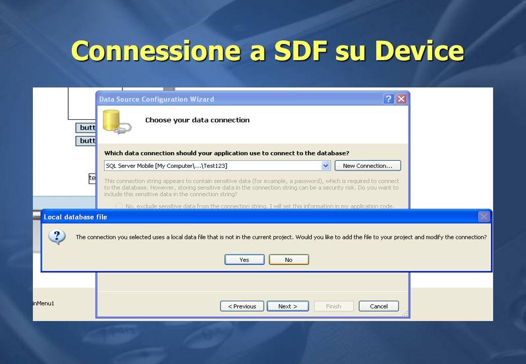 Connessione a SDF su Device