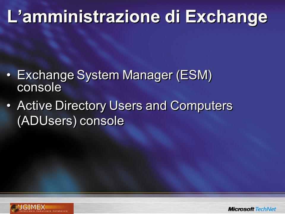 Lintegrazione con AD Schema Partition CN=Schema, CN=Configuration, DC=UGIMEX, DC=org Users Computers Groups Domain Partition Configuration Partition Exchange Configuration Replication Topology