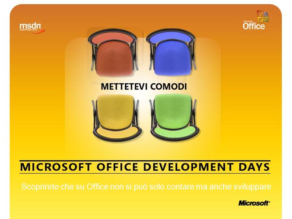 1 Scoprirete che su Office non si può solo contare ma anche sviluppare