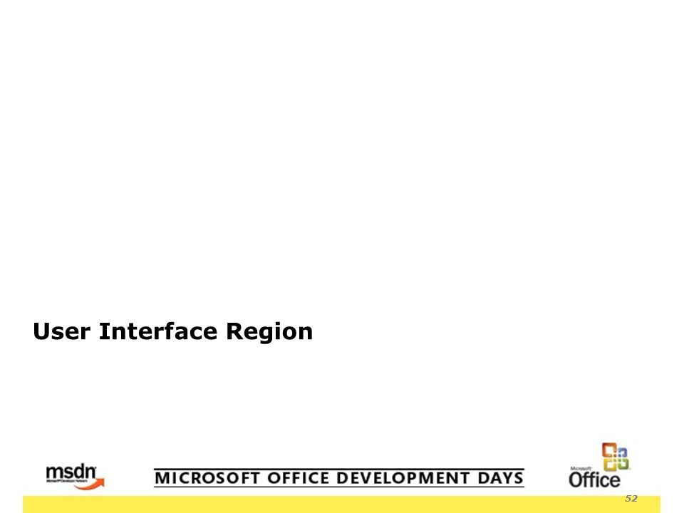 52 User Interface Region