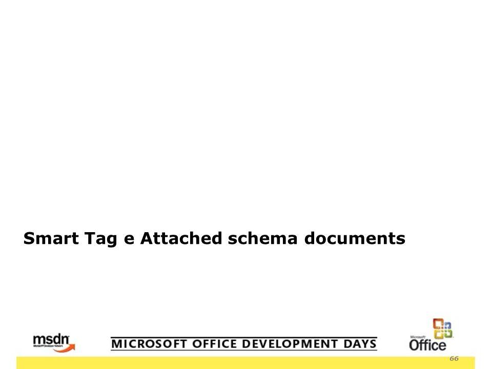 66 Smart Tag e Attached schema documents