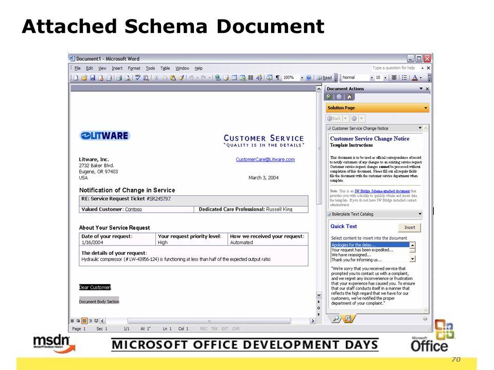 70 Attached Schema Document
