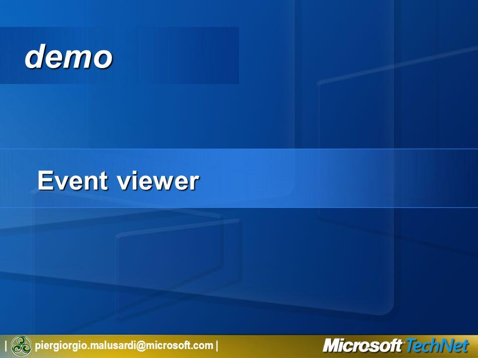 | piergiorgio.malusardi@microsoft.com | demo Event viewer