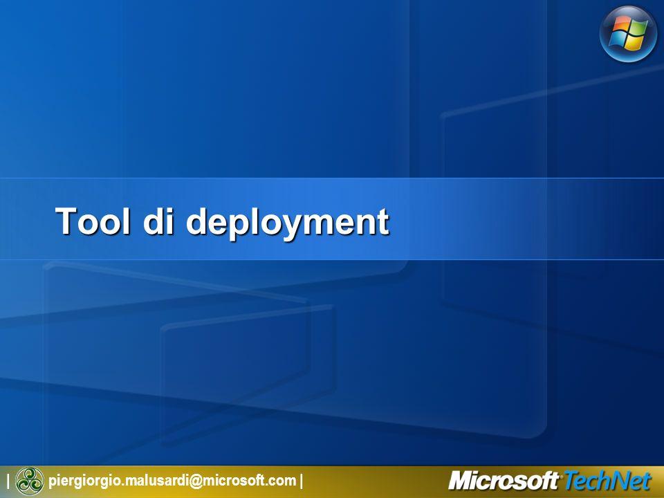   piergiorgio.malusardi@microsoft.com   Deployment Fase di pianificazione Scenario di pianificazione 1.