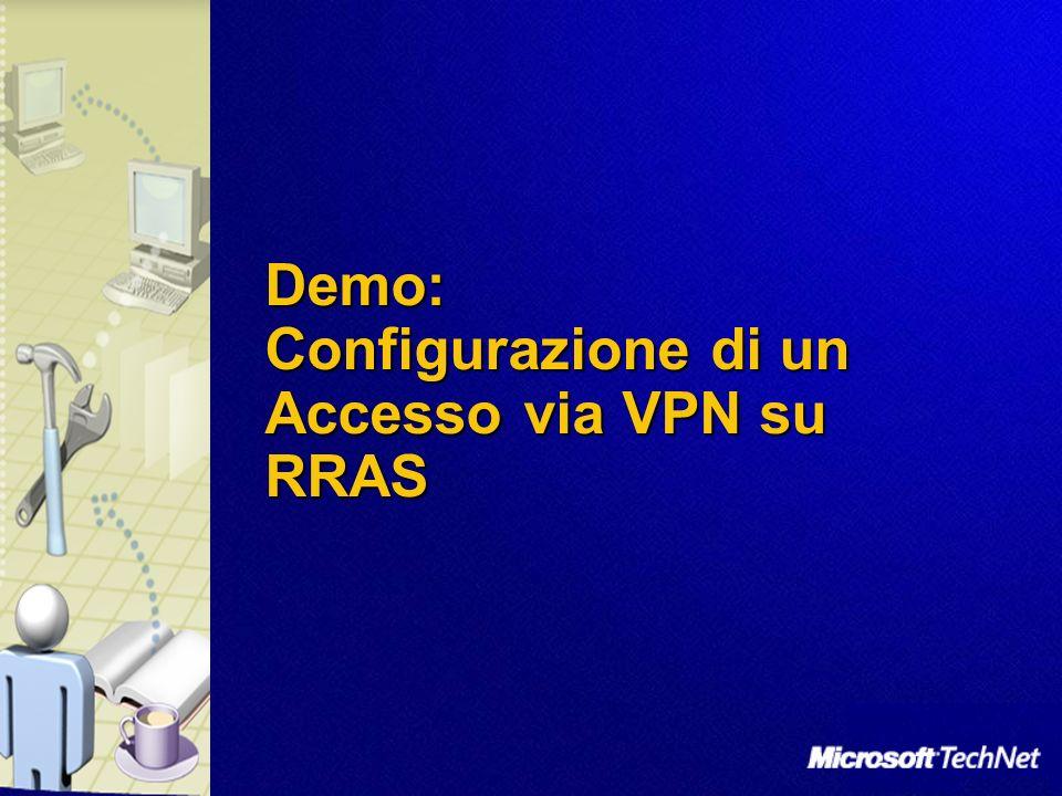 Demo: Configurazione di un Accesso via VPN su RRAS
