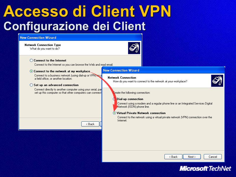 Accesso di Client VPN Configurazione dei Client
