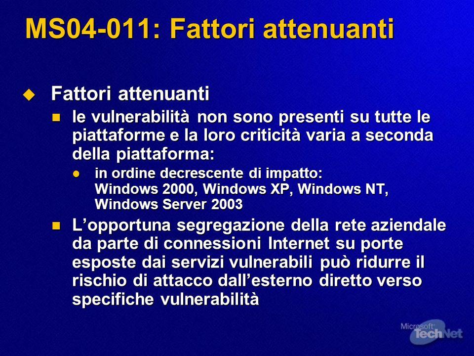 Eventi TechNet Security Roadshow 2004 (aprile 2004) TechNet Security Roadshow 2004 (aprile 2004) http://www.microsoft.com/italy/eventi/technet/roadshow_sicurezz a_Aprile2004.mspx http://www.microsoft.com/italy/eventi/technet/roadshow_sicurezz a_Aprile2004.mspx http://www.microsoft.com/italy/eventi/technet/roadshow_sicurezz a_Aprile2004.mspx http://www.microsoft.com/italy/eventi/technet/roadshow_sicurezz a_Aprile2004.mspx Registratevi per i prossimi Webcast di approfondimento sui Security Bulletin Registratevi per i prossimi Webcast di approfondimento sui Security Bulletin Ogni venerdì successivo al 2° martedì di ogni mese (prossimo: 14/05) Ogni venerdì successivo al 2° martedì di ogni mese (prossimo: 14/05) http://www.microsoft.com/italy/technet/solutions/security/bulletin.asp http://www.microsoft.com/italy/technet/solutions/security/bulletin.asp http://www.microsoft.com/italy/technet/solutions/security/bulletin.asp http://www.microsoft.com/italy/technet/solutions/security/bulletin.asp