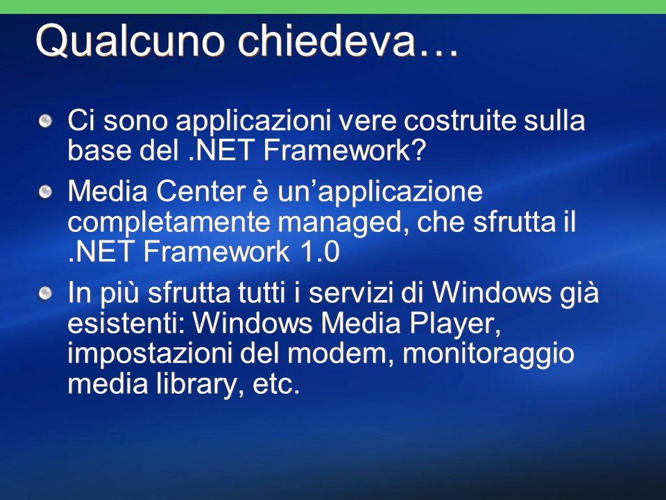 Qualcuno chiedeva… Ci sono applicazioni vere costruite sulla base del.NET Framework.