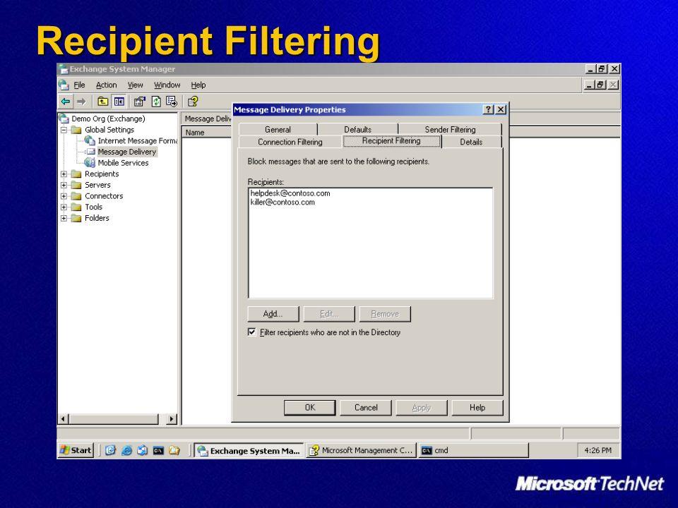 Recipient Filtering