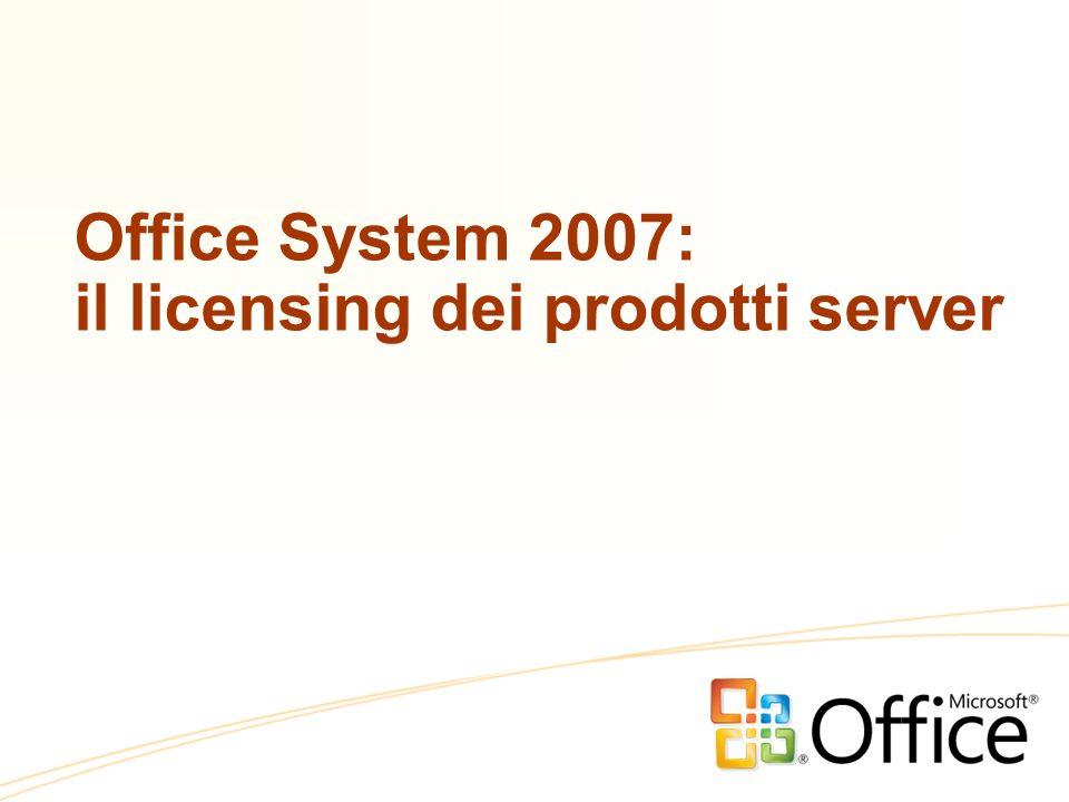 Office System 2007: il licensing dei prodotti server