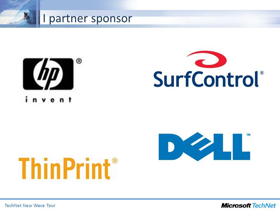 TechNet New Wave Tour I partner sponsor