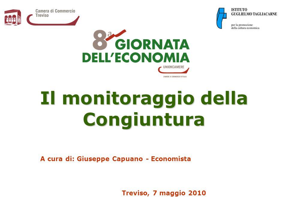Il monitoraggio della Congiuntura A cura di: Giuseppe Capuano - Economista Treviso, 7 maggio 2010