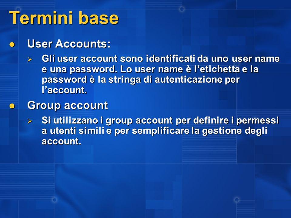 Trusted Computing Base (TCB) TCB – definita come Federal Standard 1037C TCB – definita come Federal Standard 1037C Il Kernel mode è la parte principale del TCB, non ha limiti di accesso a nessuna risorsa di sistema Il Kernel mode è la parte principale del TCB, non ha limiti di accesso a nessuna risorsa di sistema Lo User mode può essere parte del TCB in relazione al tipo di processo e della impostazioni Lo User mode può essere parte del TCB in relazione al tipo di processo e della impostazioni Il disegno di un sistema operativo deve dividere in maniera assoluta codice fidato da codice non fidato Il disegno di un sistema operativo deve dividere in maniera assoluta codice fidato da codice non fidato per definizione, kernel code è fidato per definizione, kernel code è fidato tutto quello che scrivete è per default non fidato tutto quello che scrivete è per default non fidato TCB Kernel mód TCB parte non fidata parte fidata senza limiti