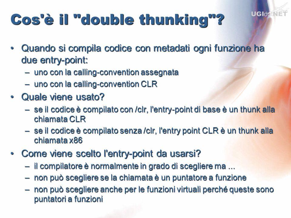 Cos è il double thunking .Dove si presenta il problema?Dove si presenta il problema.