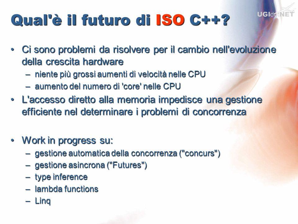 Qual'è il futuro di ISO C++? Ci sono problemi da risolvere per il cambio nell'evoluzione della crescita hardwareCi sono problemi da risolvere per il c