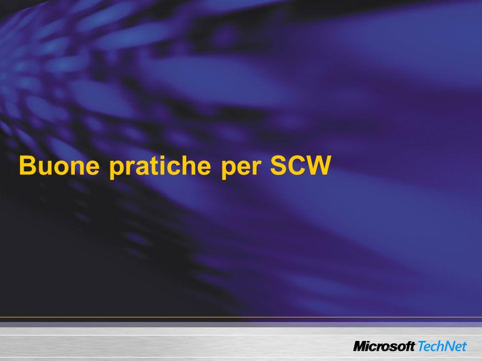 Buone pratiche per SCW