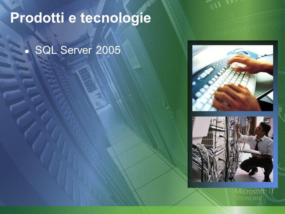 Prodotti e tecnologie SQL Server 2005
