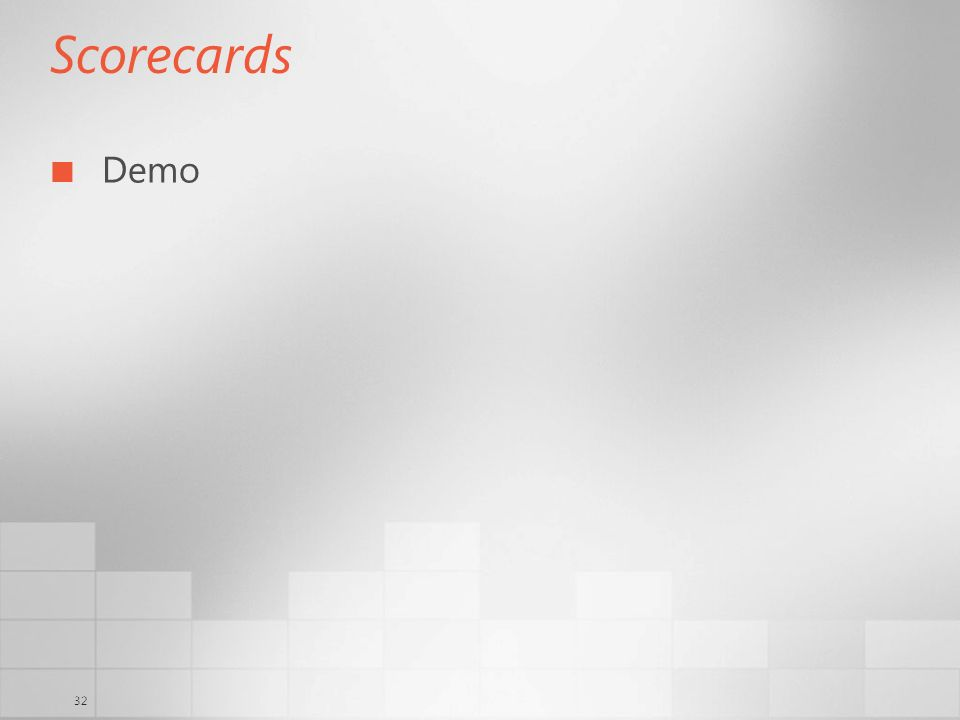 32 Scorecards Demo