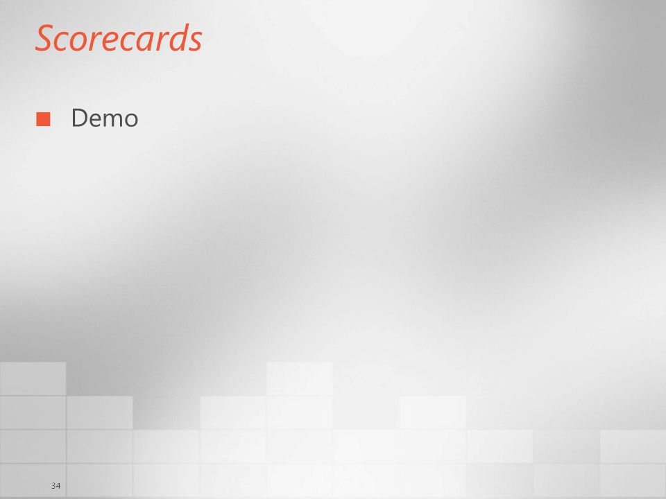 34 Scorecards Demo