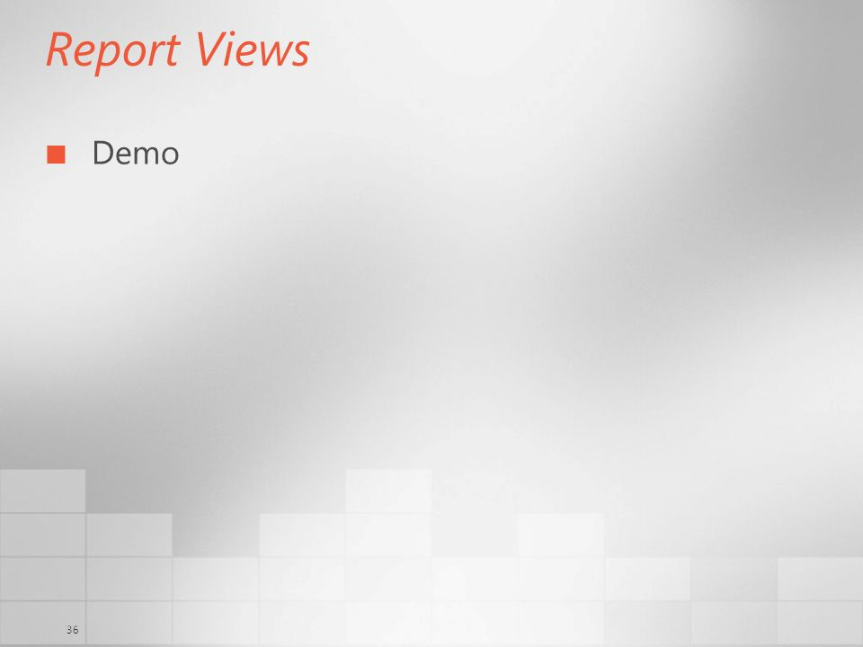 36 Report Views Demo