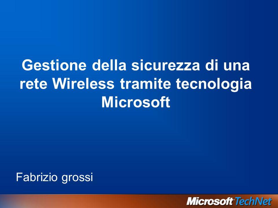 Gestione della sicurezza di una rete Wireless tramite tecnologia Microsoft Fabrizio grossi