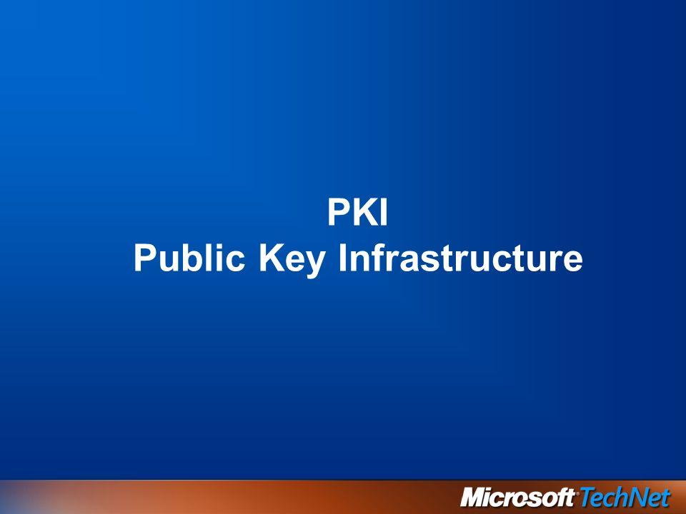 PKI Public Key Infrastructure