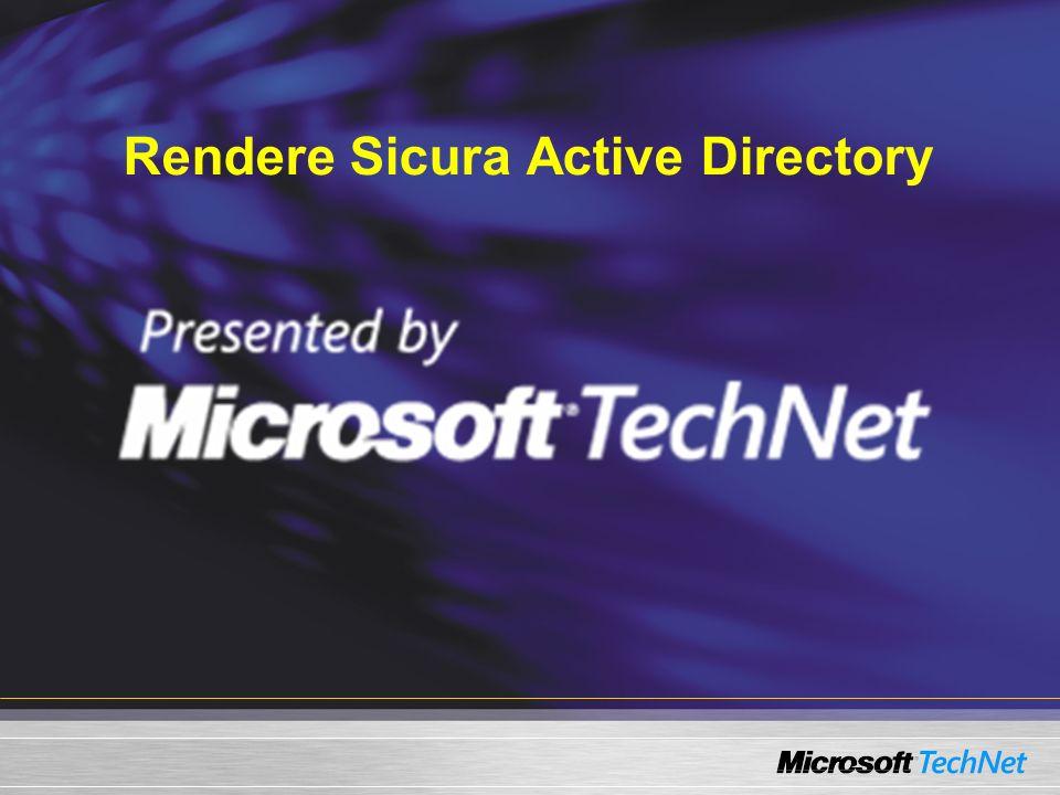Rendere Sicura Active Directory