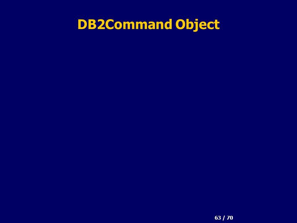 63 / 70 DB2Command Object