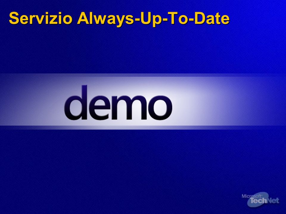 Servizio Always-Up-To-Date