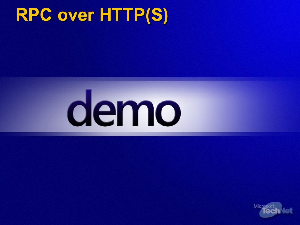 RPC over HTTP(S)