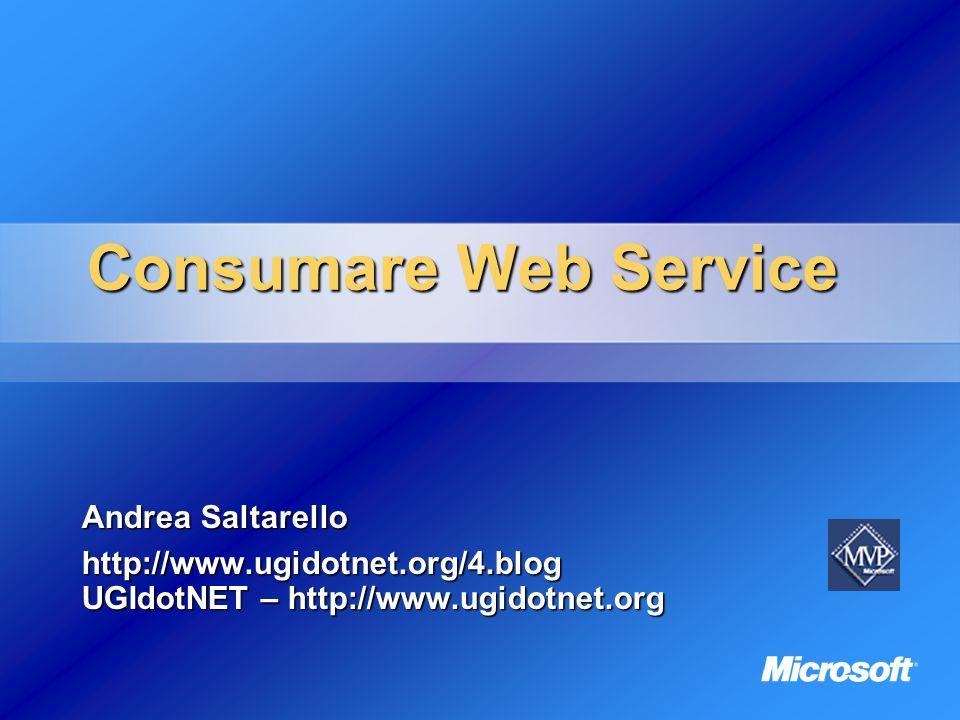 2 Agenda Amarcord Amarcord Web Services: il backstage Consumare WS con.NET Consumare WS con ASP/VB6
