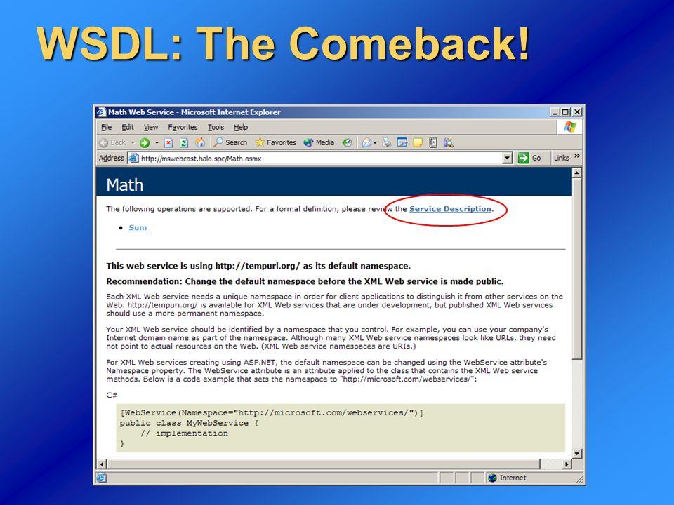 30 Consumare il WS Possiamo ora usare la classe proxy prodotta con.NET come se fosse una normale libreria COM
