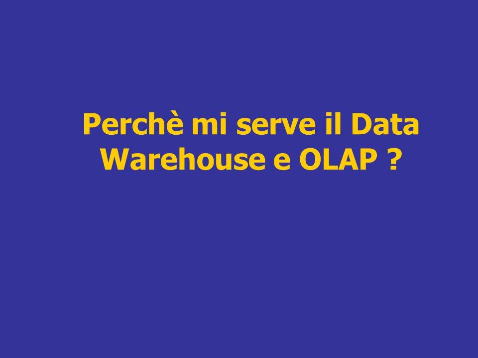 Perchè mi serve il Data Warehouse e OLAP ?
