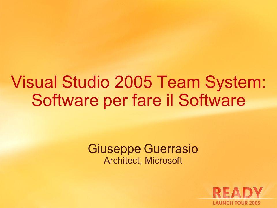 Visual Studio 2005 Team System: Software per fare il Software Giuseppe Guerrasio Architect, Microsoft