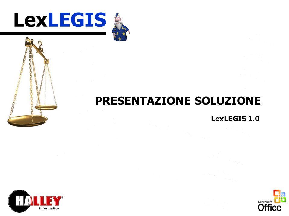 LexLEGIS LA SOLUZIONE Finestra principale di avvio della soluzione