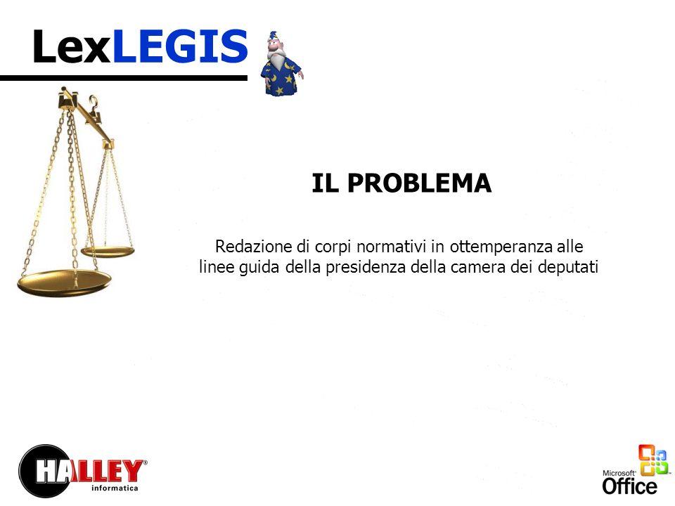 LexLEGIS I vantaggi che Lex Legis vi offre sono: - Garanzia di memorizzare tutti i corpi normativi nello stesso formato.