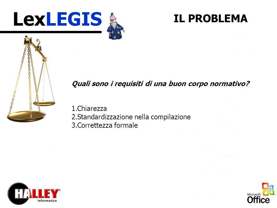 LexLEGIS Quali sono i requisiti di una buon corpo normativo.