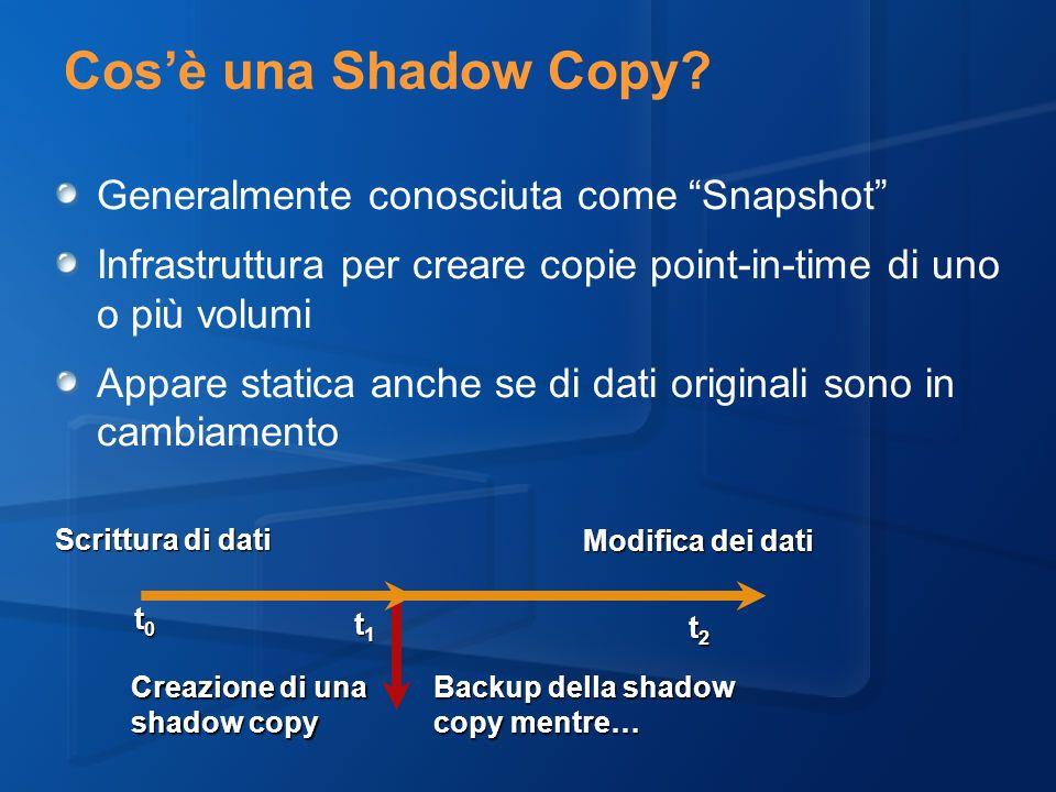 Cosè una Shadow Copy.