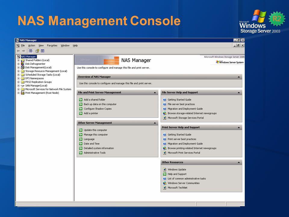 NAS Management Console