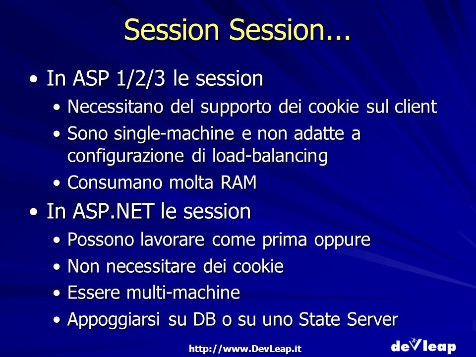 http://www.DevLeap.it Session Session...