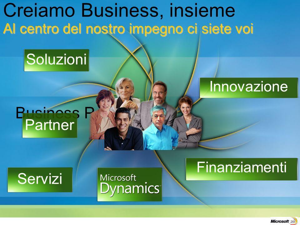 Business People Soluzioni Innovazione Partner Servizi Finanziamenti Al centro del nostro impegno ci siete voi Creiamo Business, insieme Al centro del nostro impegno ci siete voi