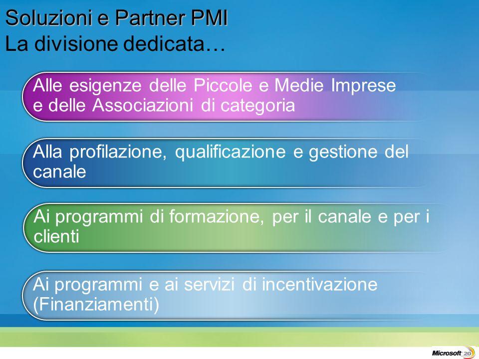 Ai programmi e ai servizi di incentivazione (Finanziamenti) Ai programmi di formazione, per il canale e per i clienti Alla profilazione, qualificazion