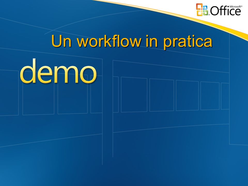 Un workflow in pratica