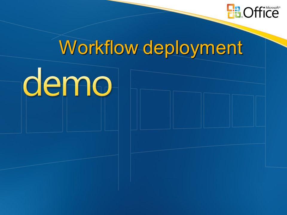Workflow deployment