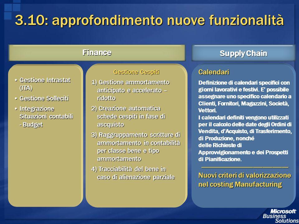 3.10: approfondimento nuove funzionalità Gestione Cespiti 1) Gestione ammortamento anticipato e accelerato – ridotto 2) Creazione automatica schede ce